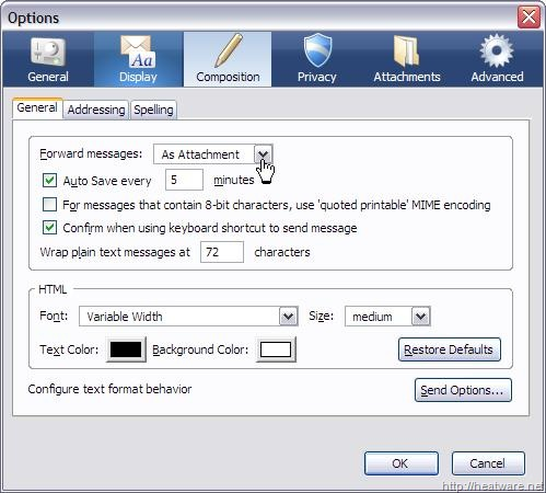 Mozilla Thunderbird: Forwarding Message results in 'Mail