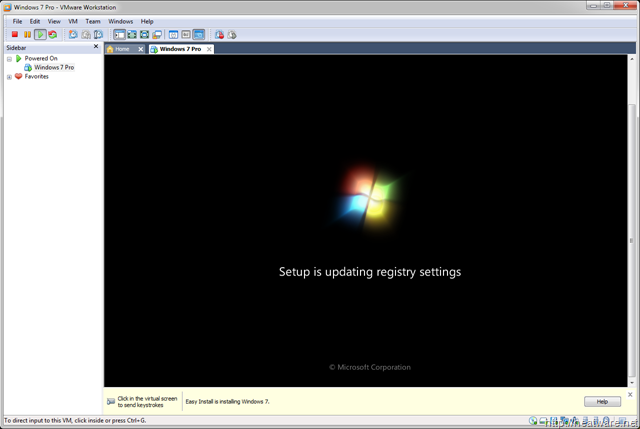 windows 7 machine vmware