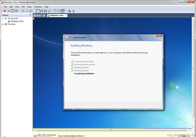 machine for linux on windows 7