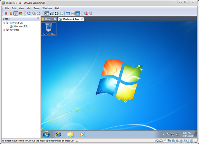 How to install Windows 7 on VMware Workstation 7 0 (A Step