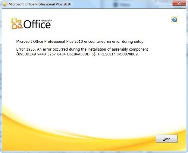 microsoft office standard 2016 encountered an error during setup